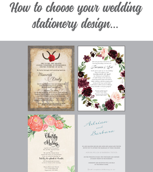How on earth do I decide what wedding stationery design to choose?